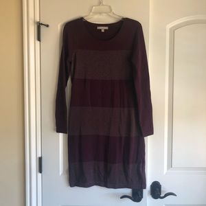 Like new, purple knit midi dress from banana rep